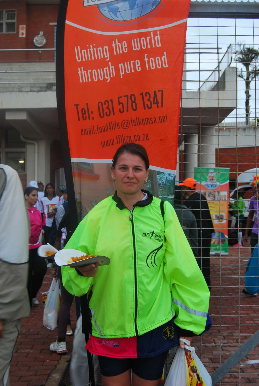 Pleasant Giselle Hall, a secretary from Amanzimtoti, has been participating in the race for 3 years liked the good vibe and food