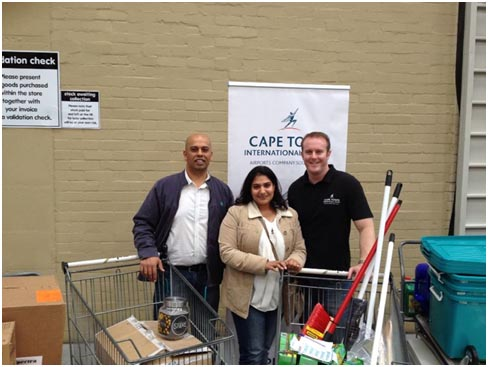 FFL CT's Nilesh Luckhoo and Driti Gihwala, joined by ACSA's Gareth Bain